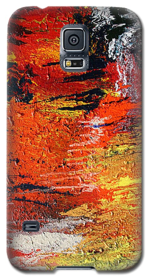 Fusionart Galaxy S5 Case featuring the painting Chasm by Ralph White