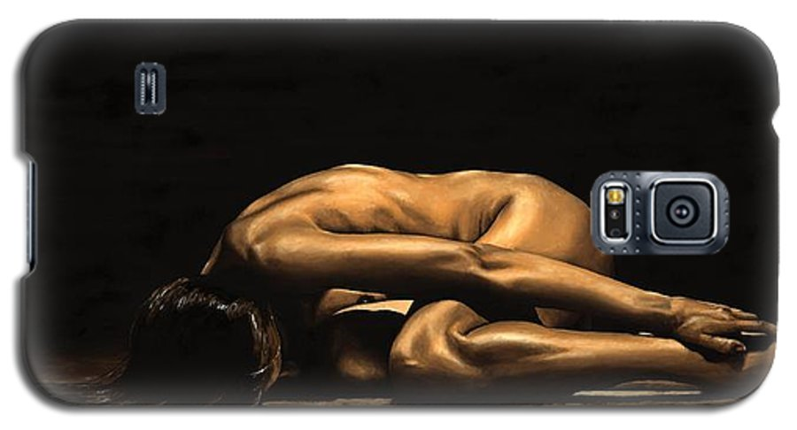 Nude Galaxy S5 Case featuring the painting Chastity by Richard Young