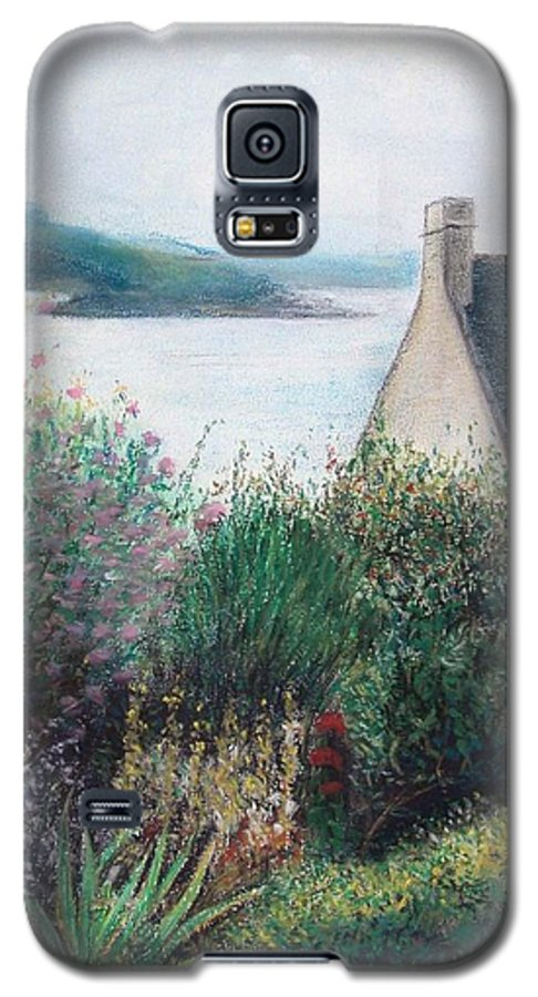 Landscape Galaxy S5 Case featuring the painting Chausey by Muriel Dolemieux