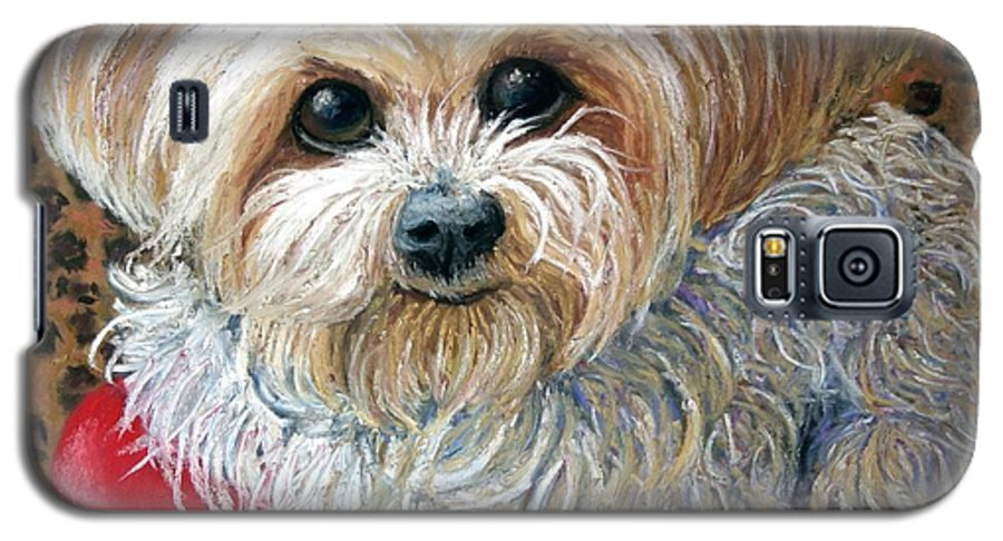 Dog Galaxy S5 Case featuring the painting My Friend by Minaz Jantz