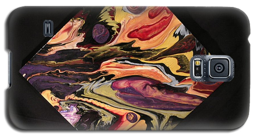 Abstract Galaxy S5 Case featuring the painting Cherish The Day by Patrick Mock