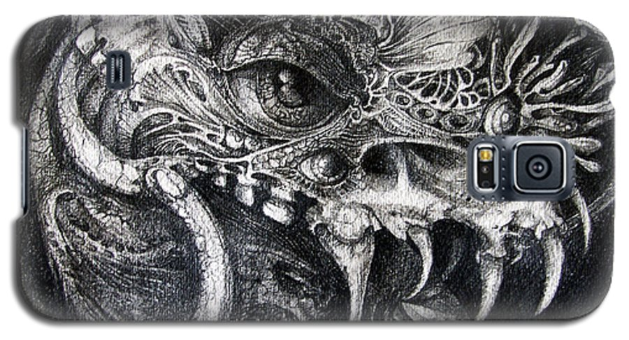 Galaxy S5 Case featuring the drawing Cherubim Of Beasties by Otto Rapp