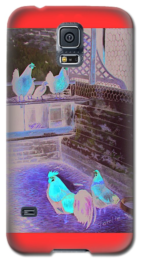 Far Galaxy S5 Case featuring the painting Chicken Coop by Ferrel Cordle