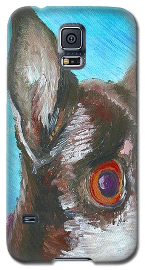 Dog Galaxy S5 Case featuring the painting Chili Chihuahua by Minaz Jantz