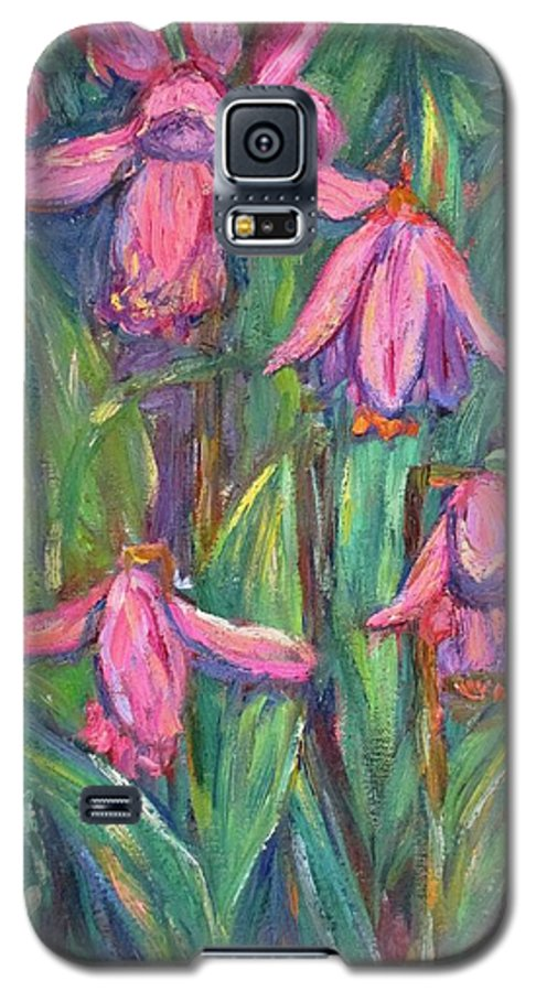Floral Galaxy S5 Case featuring the painting Chinese Orchids by Kendall Kessler