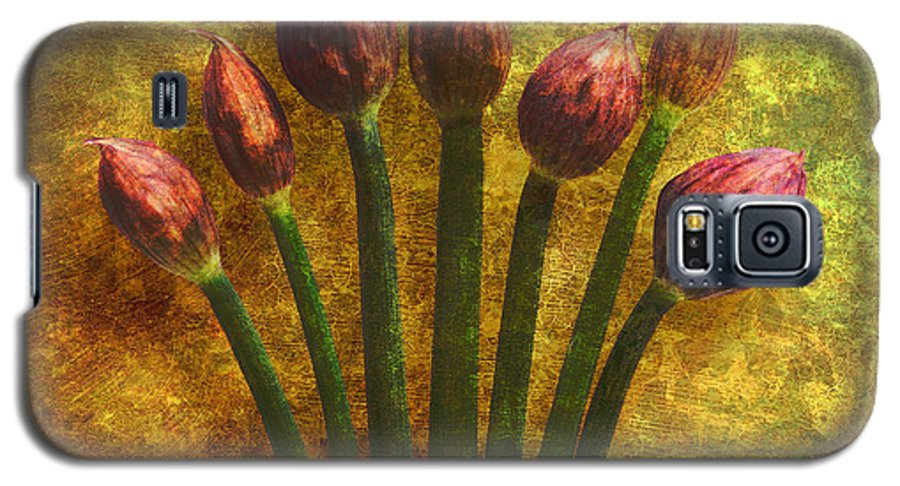 Texture Galaxy S5 Case featuring the digital art Chives Buds by Digital Crafts