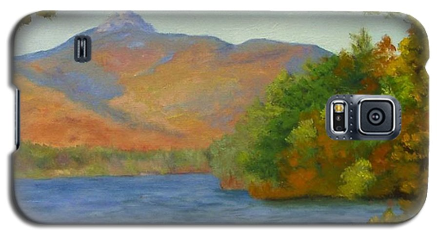 Mount Chocorua And Chocorua Lake Galaxy S5 Case featuring the painting Chocorua by Sharon E Allen