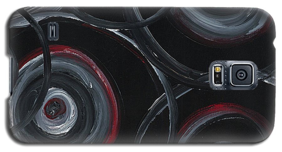 Circles Galaxy S5 Case featuring the painting Choices In Black by Nadine Rippelmeyer