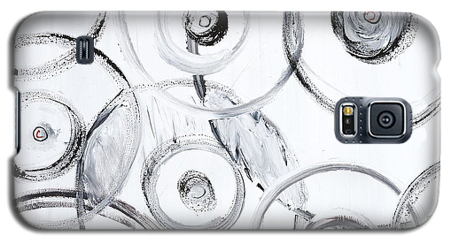 Circles Galaxy S5 Case featuring the painting Choices In White by Nadine Rippelmeyer