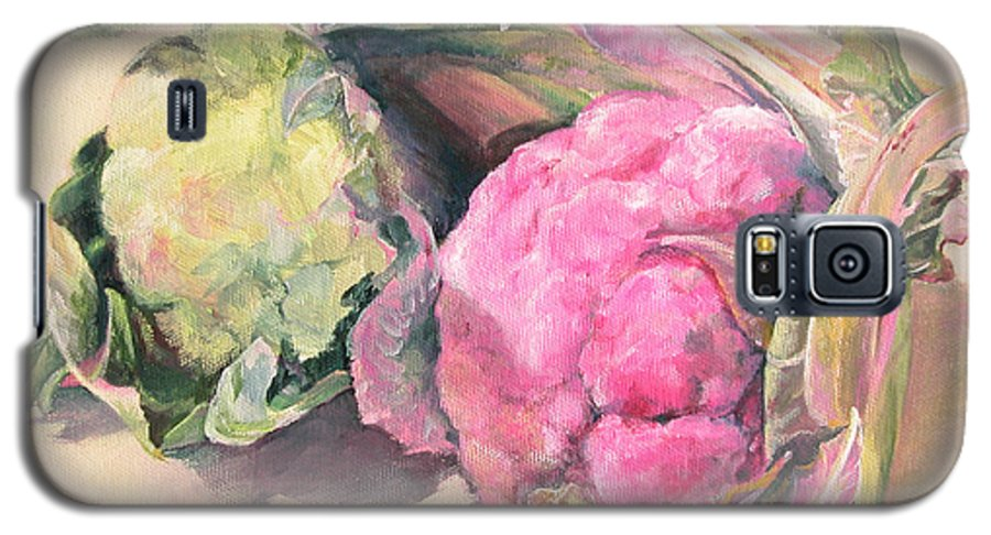 Flower Galaxy S5 Case featuring the painting Choux by Muriel Dolemieux