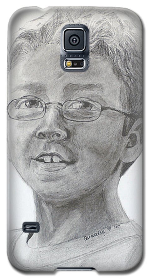 Chris Galaxy S5 Case featuring the drawing Chris Dovick by Quwatha Valentine