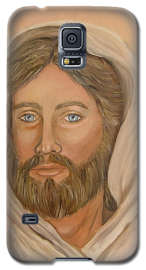 Christ Galaxy S5 Case featuring the painting Christ by Quwatha Valentine