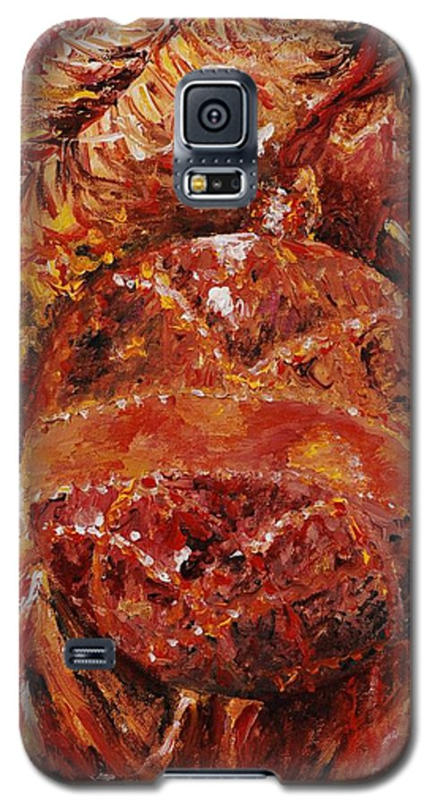 Christmas Galaxy S5 Case featuring the painting Christmas Glitter by Nadine Rippelmeyer