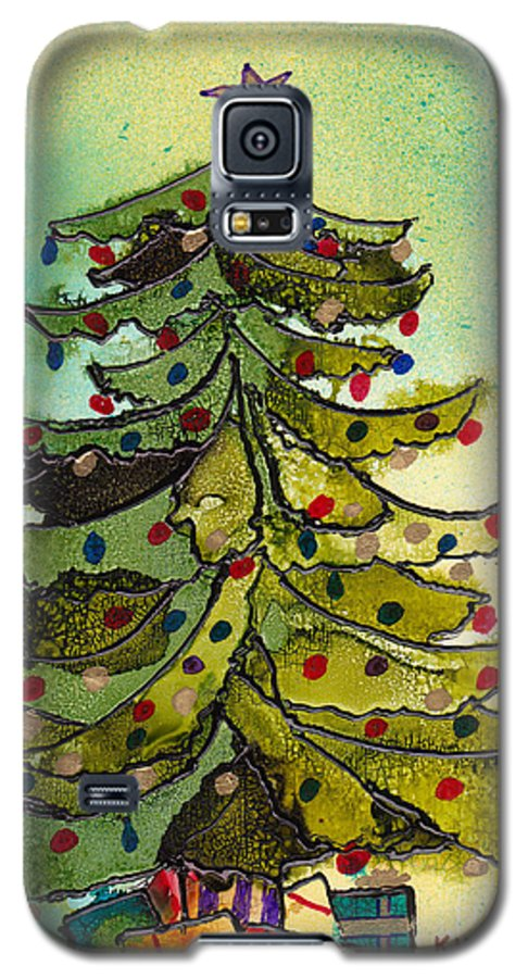 Christmas Galaxy S5 Case featuring the painting Christmas Morning 2008 by Susan Kubes