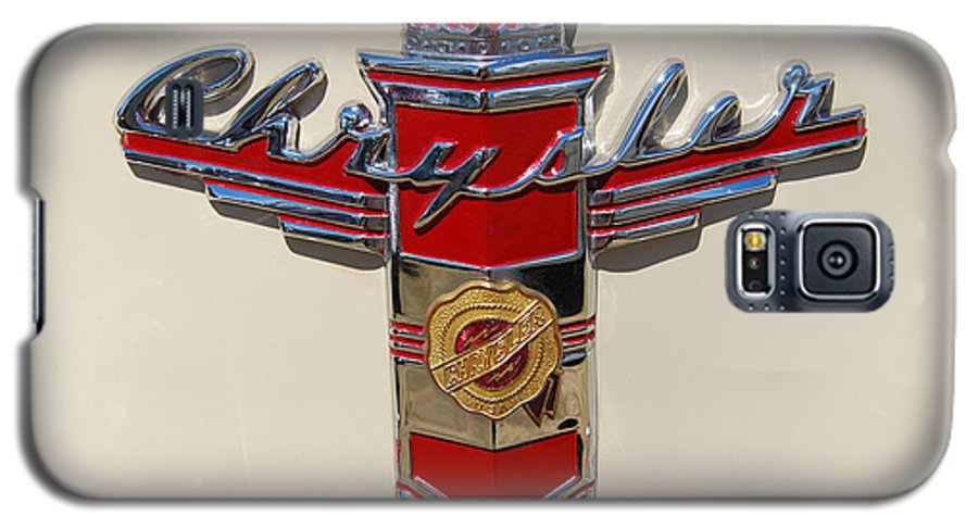 Automobile Galaxy S5 Case featuring the photograph Chrysler Hood Logo by Larry Keahey