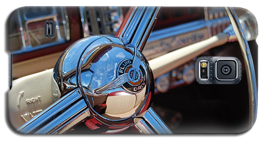 Classics Galaxy S5 Case featuring the photograph Chrysler Town And Country Steering Wheel by Larry Keahey
