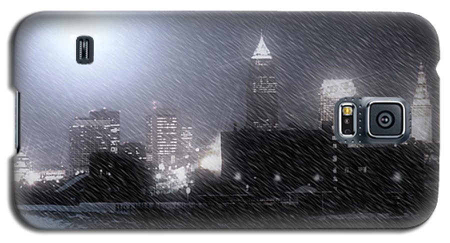 Cleveland Galaxy S5 Case featuring the photograph City Bathed In Winter by Kenneth Krolikowski