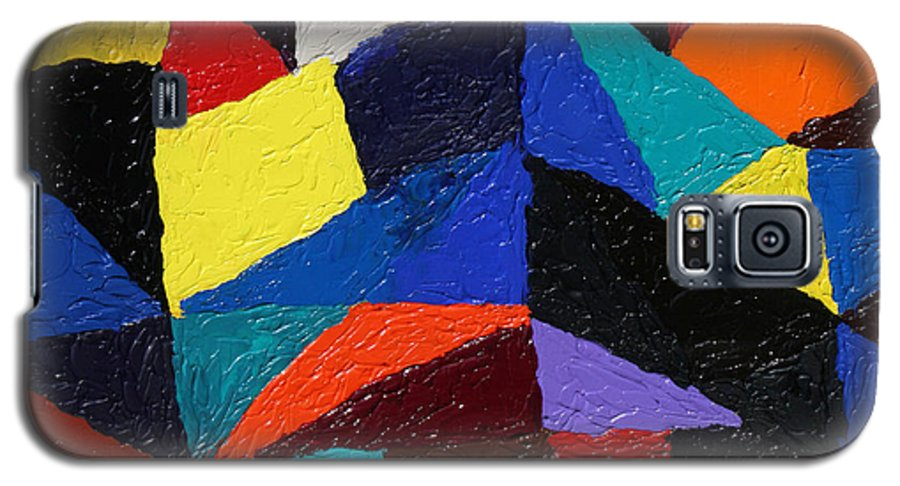 Fusionart Galaxy S5 Case featuring the painting Cityscape by Ralph White
