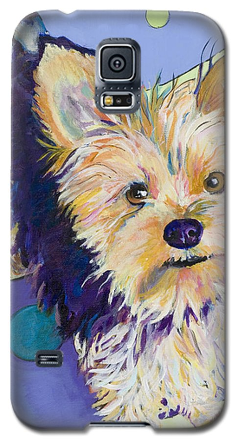 Pet Portraits Galaxy S5 Case featuring the painting Claire by Pat Saunders-White