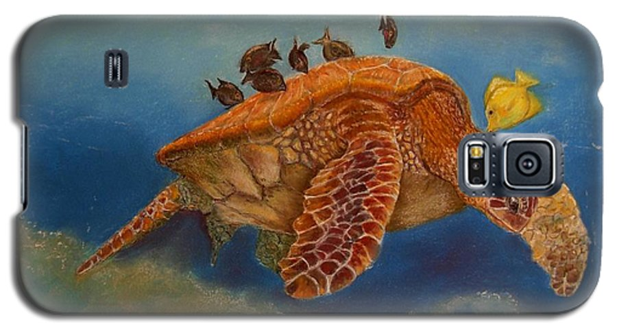 Turtle Galaxy S5 Case featuring the painting Cleaning Station by Ceci Watson