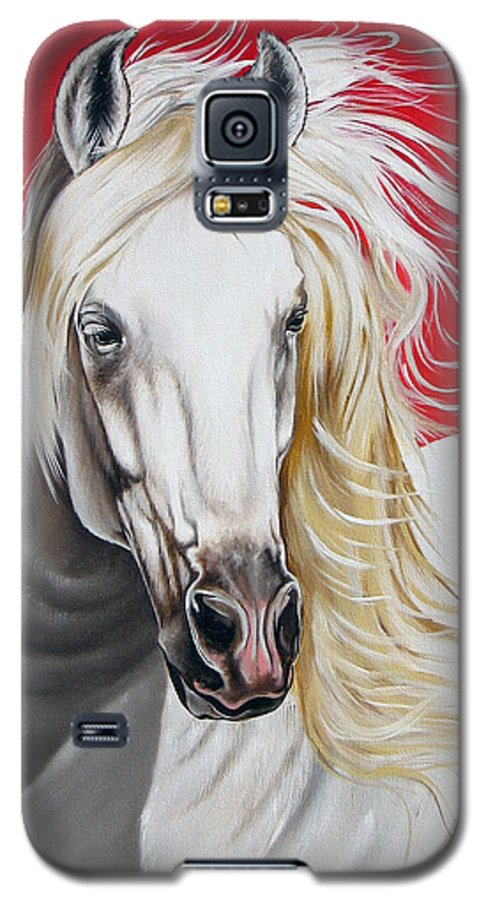Horse Galaxy S5 Case featuring the painting Cleo by Ilse Kleyn