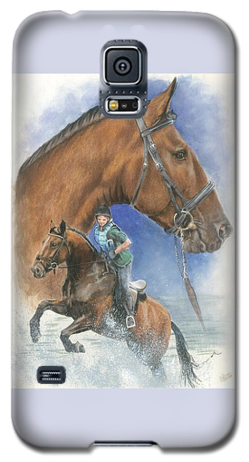Hunter Jumper Galaxy S5 Case featuring the mixed media Cleveland Bay by Barbara Keith