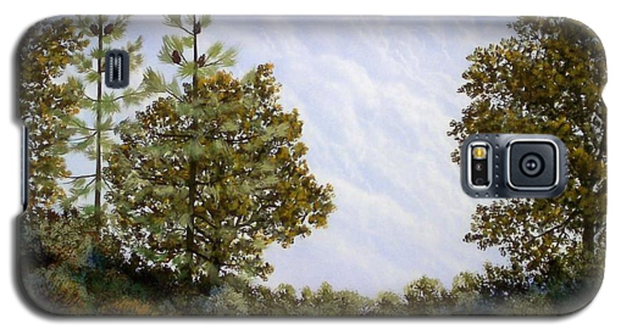 Landscape Galaxy S5 Case featuring the painting Clouds In Foothills by Frank Wilson