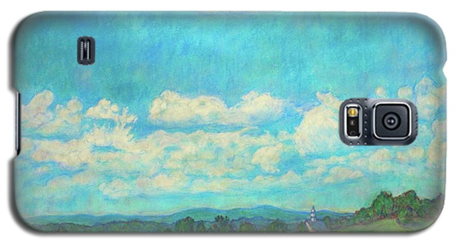 Landscape Galaxy S5 Case featuring the painting Clouds Over Fairlawn by Kendall Kessler