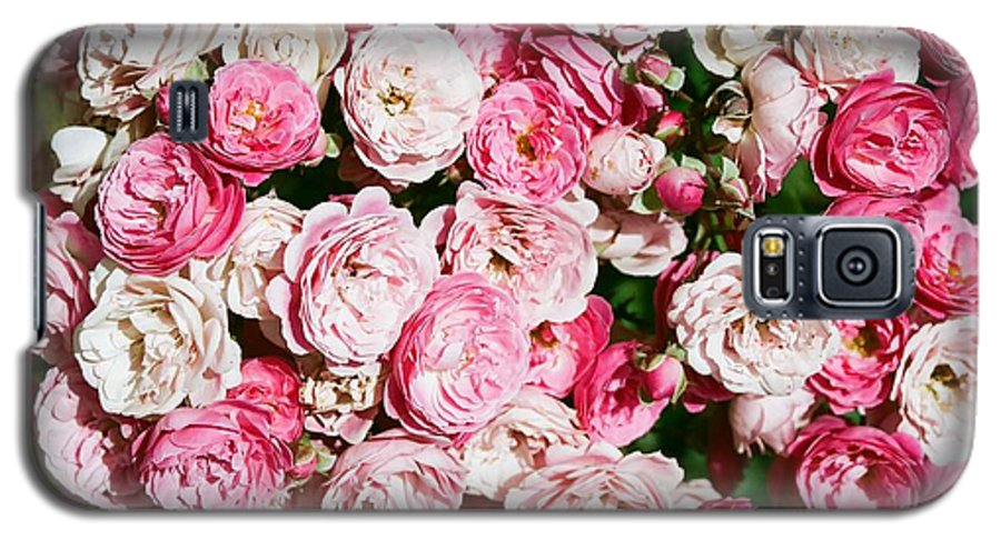 Rose Galaxy S5 Case featuring the photograph Cluster Of Roses by Dean Triolo