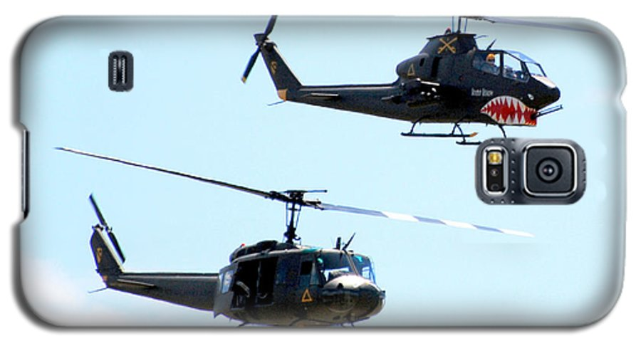 Military Galaxy S5 Case featuring the photograph Cobra And Huey by Larry Keahey