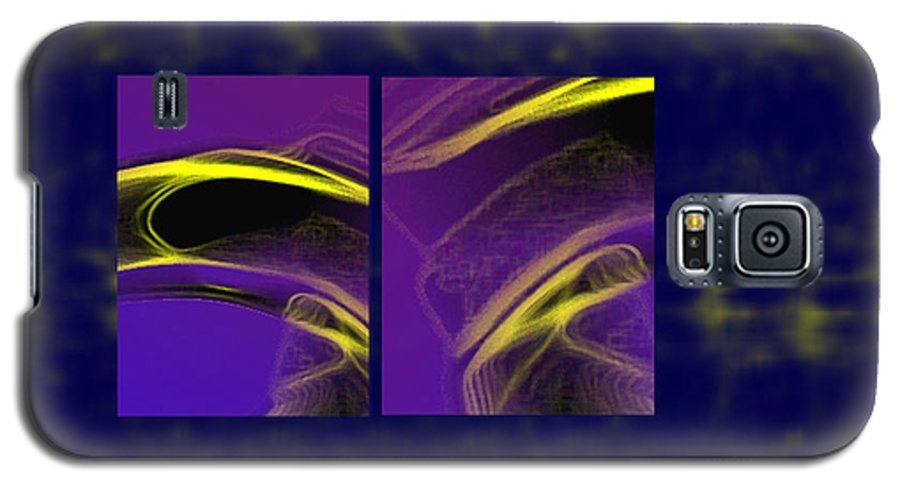 Abstract Galaxy S5 Case featuring the digital art Cobra by Steve Karol