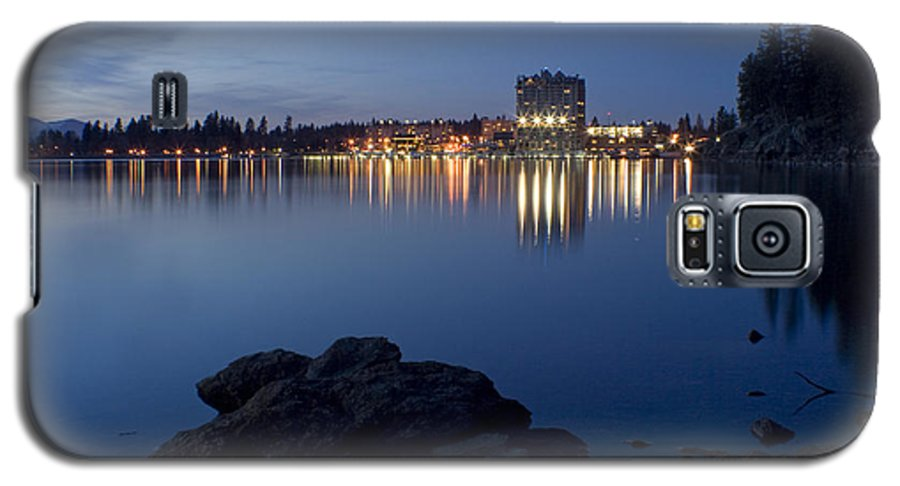 Skyline Galaxy S5 Case featuring the photograph Coeur D Alene Skyline Night by Idaho Scenic Images Linda Lantzy