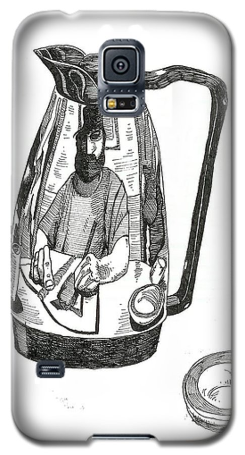 Pen And Ink Galaxy S5 Case featuring the drawing Coffee Pot by Tobey Anderson