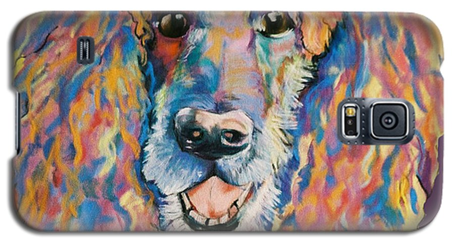 Standard Poodle Galaxy S5 Case featuring the painting Cole by Pat Saunders-White