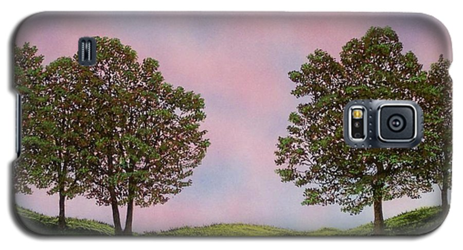 Landscape Galaxy S5 Case featuring the painting Colors Of Dawn by Frank Wilson
