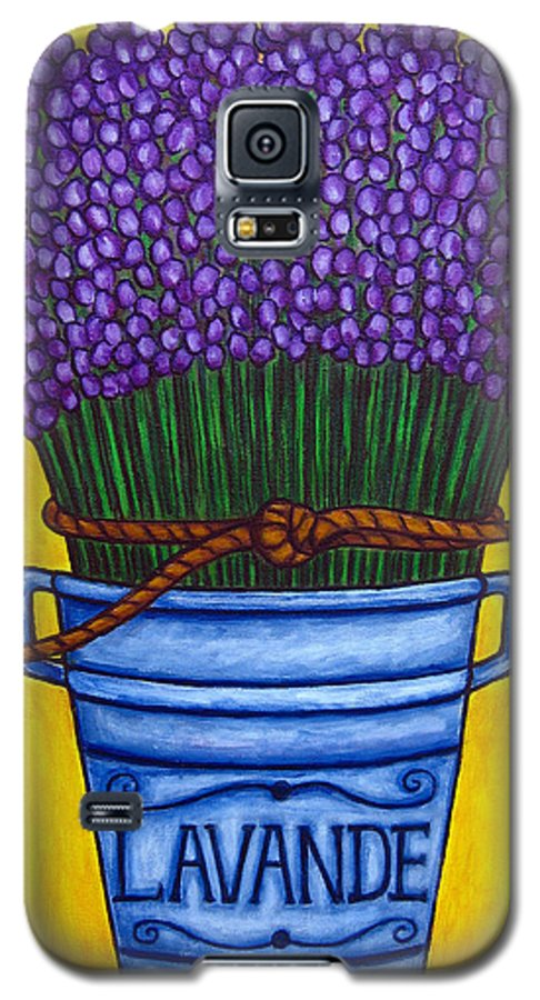 Antique Galaxy S5 Case featuring the painting Colours Of Provence by Lisa Lorenz