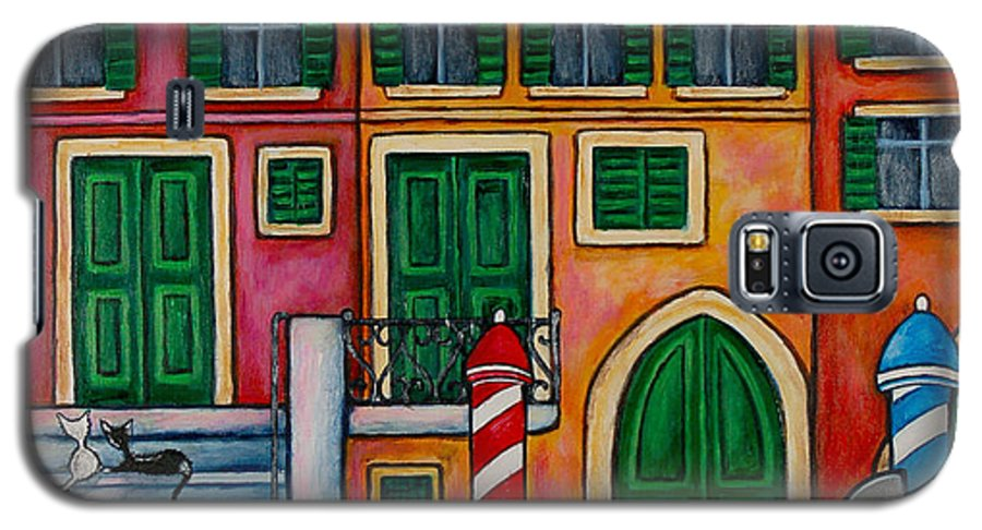 Venice Galaxy S5 Case featuring the painting Colours Of Venice by Lisa Lorenz
