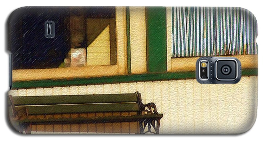 Bench Galaxy S5 Case featuring the photograph Come Sit A Spell by Sandy MacGowan