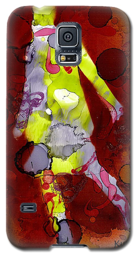Woman Girl Female Impressionist Empowerment Galaxy S5 Case featuring the mixed media Coming Of Age by Susan Kubes