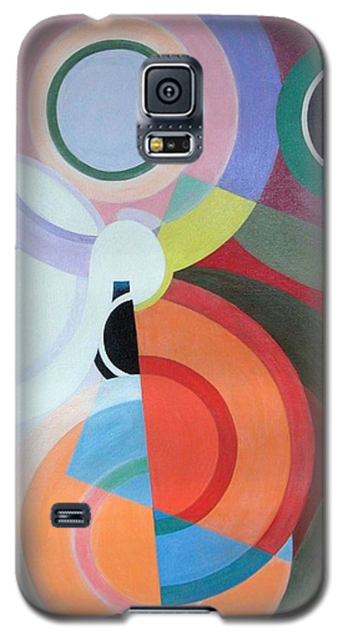 Abstract Galaxy S5 Case featuring the painting Complement by Muriel Dolemieux