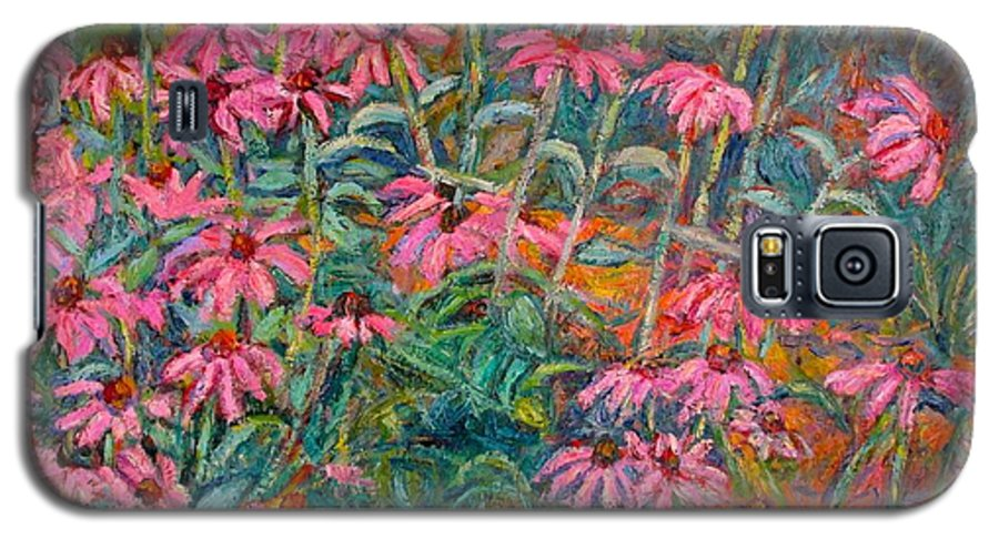 Kendall Kessler Galaxy S5 Case featuring the painting Coneflowers by Kendall Kessler