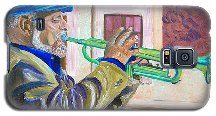 Street Musician Galaxy S5 Case featuring the painting Confederate Bugular by Michael Lee