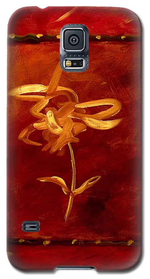 Abstract Galaxy S5 Case featuring the painting Confidence by Shannon Grissom