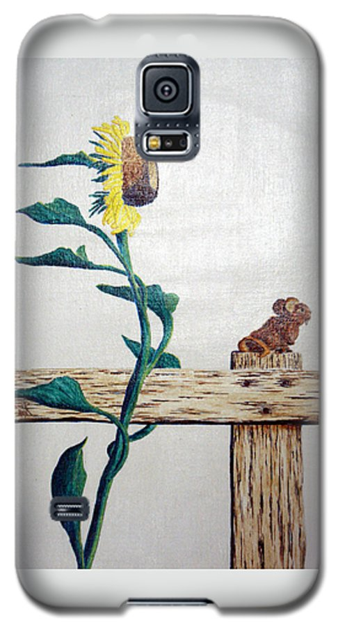 Still Life Galaxy S5 Case featuring the painting Confluence by A Robert Malcom