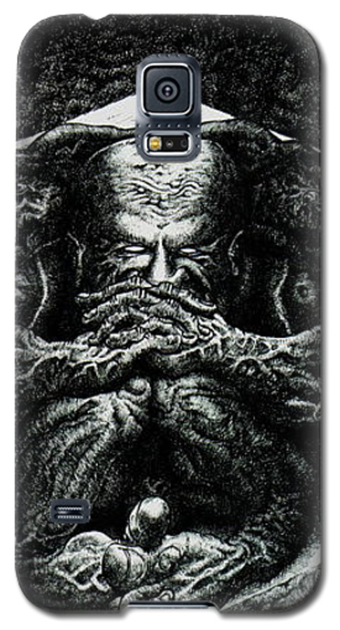 Dark Galaxy S5 Case featuring the drawing Contemplation by Tobey Anderson