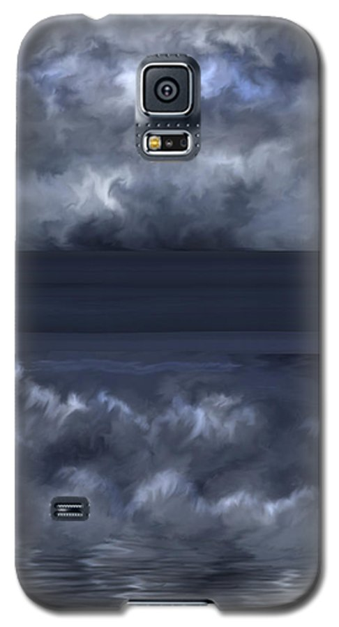 Seascape Galaxy S5 Case featuring the painting Convergence Zone by Anne Norskog