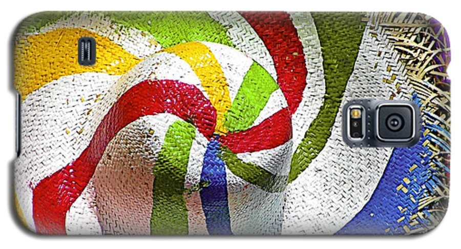 Straw Galaxy S5 Case featuring the photograph Cool Summer Hat by Christine Till