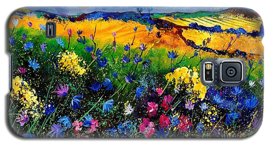 Flowers Galaxy S5 Case featuring the painting Cornflowers 680808 by Pol Ledent