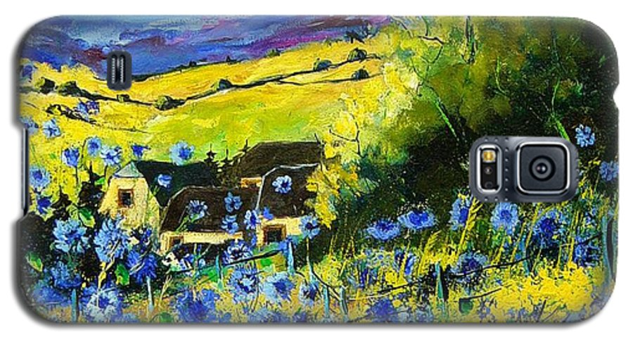 Flowers Galaxy S5 Case featuring the painting Cornflowers In Ver by Pol Ledent