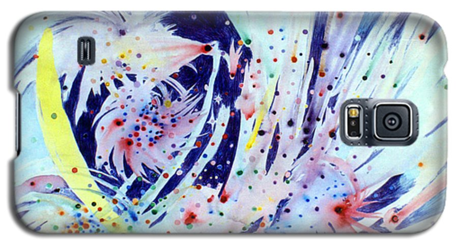 Abstract Galaxy S5 Case featuring the painting Cosmic Candy by Steve Karol
